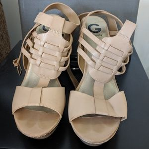 Strappy Guess Wedges